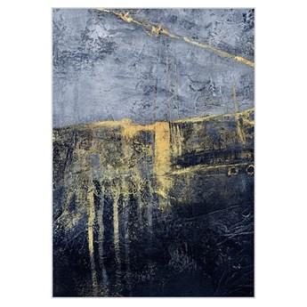 Obraz złoto-granatowa abstrakcja 100 x 140