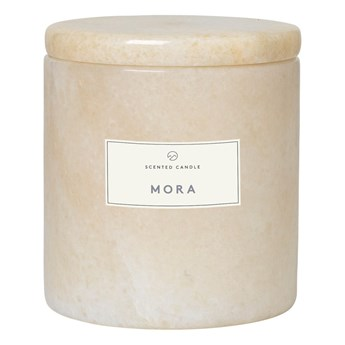 Świeczka o zapachu drzewa mora w marmurowym pojemniku Blomus Marble