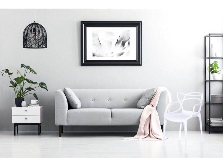 Krzesło LILLE  białe Szerokość 55 cm Szerokość 40 cm Głębokość 45 cm Wysokość 81 cm Z podłokietnikiem Tworzywo sztuczne Krzesło inspirowane Pomieszczenie Jadalnia Kolor Biały