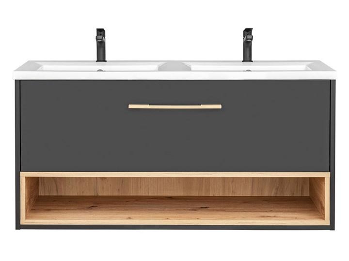 Podwieszana szafka łazienkowa pod umywalkę - Ketris 3X 120 cm Głębokość 46 cm Kolor Szary Wysokość 57 cm Wiszące Szafki Kategoria Szafki stojące
