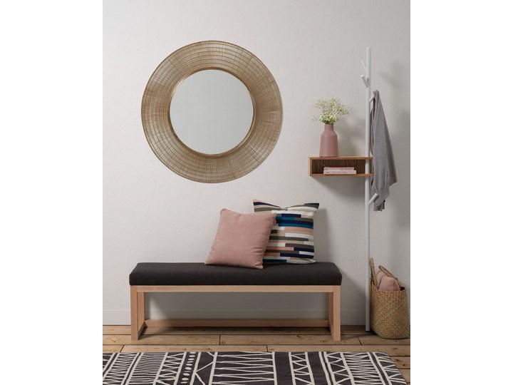 Lustro wiszące Plax ∅80 cm mosiężne Kategoria Lustra Ścienne Lustro z ramą Okrągłe Pomieszczenie Sypialnia
