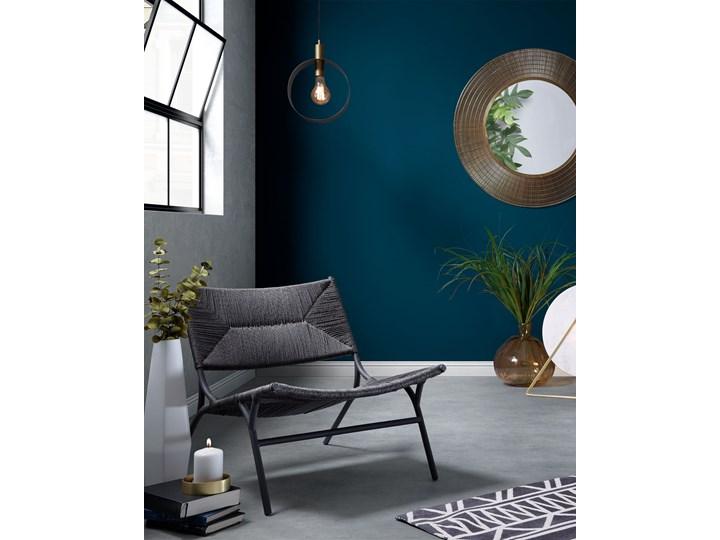 Lustro wiszące Plax ∅80 cm mosiężne Okrągłe Lustro z ramą Kategoria Lustra Ścienne Pomieszczenie Salon
