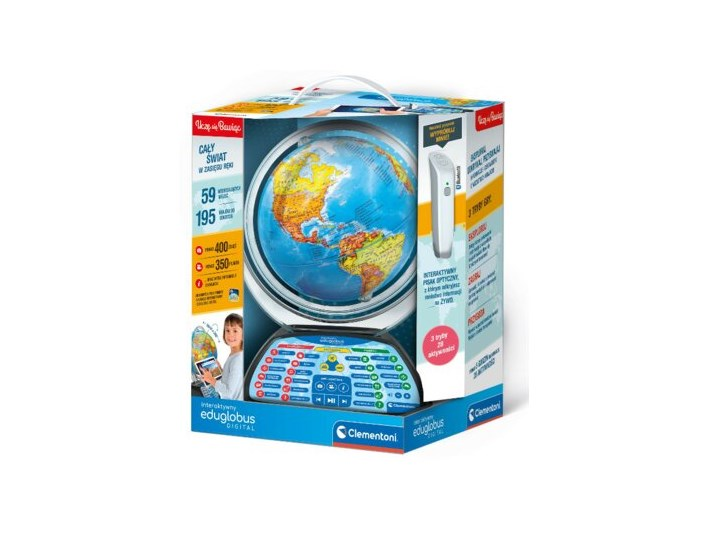 Interaktywny globus CLEMENTONI EduGlobus Digital Kategoria Zabawki interaktywne Wiek dziecka dla starszaka (6-10lat)