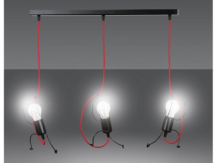 BOBI 3 BLACK 537/3 oryginalny zwis sufitowy dziecięcy kolory Kategoria Lampy wiszące Metal Lampa LED Kolor Czarny