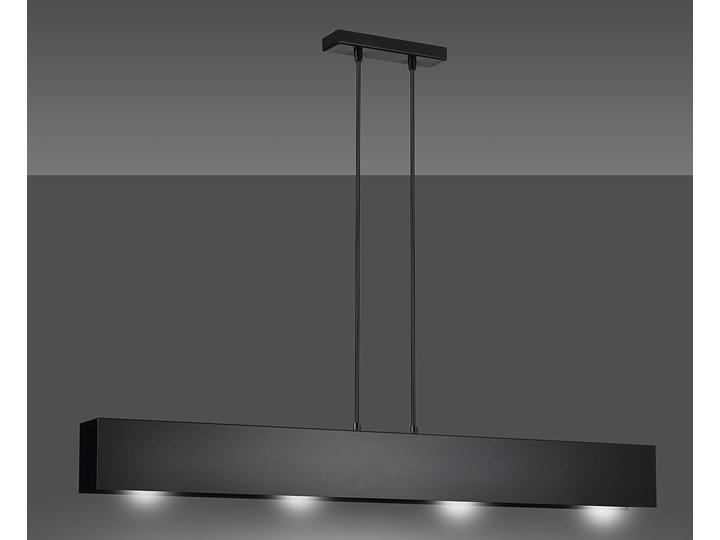 GENTOR 4 BLACK 672/4 oryginalna lampa wisząca czarna LOFT regulowana metalowa DESIGN