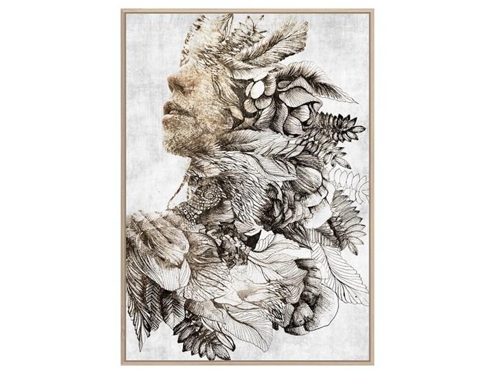 Obraz złota kobieca twarz II 80 x 120 cm