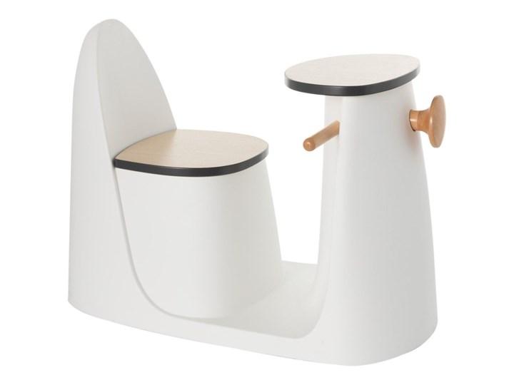 Krzesełko ze stolikiem 2w1 Vespo white, 40x75x59cm Metal Kolor Biały Drewno Kategoria Pozostałe meble do przedpokoju
