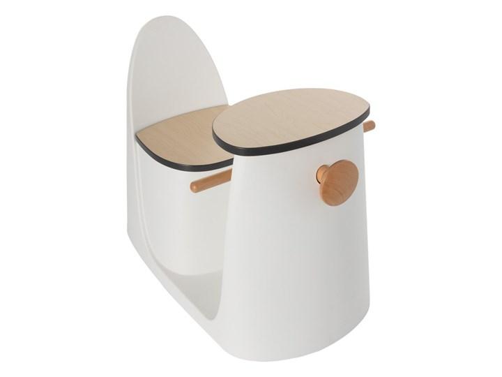 Krzesełko ze stolikiem 2w1 Vespo white, 40x75x59cm Metal Drewno Kolor Biały