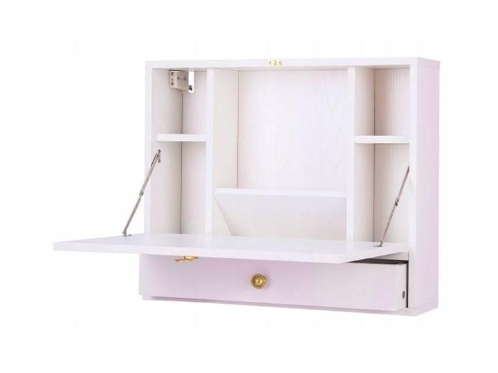 Wiszące biurko ścienne składane - białe Kolor Biały