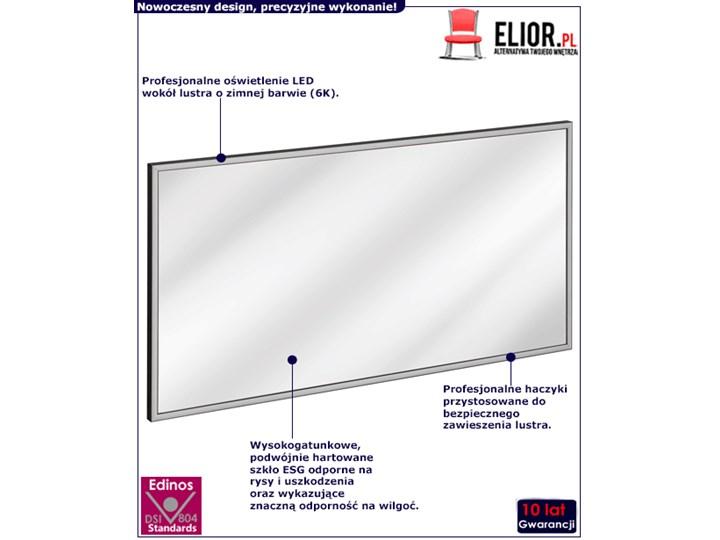 Podwieszane prostokątne lustro łazienkowe - Tauro 2S Lustro z ramą Ścienne Styl Nowoczesny