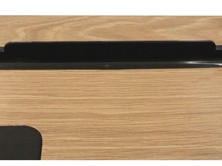 Industrialne biurko komputerowe Dolem z nakładką z ekoskóry Kategoria Biurka Biurko z nadstawką Płyta MDF Metal Głębokość 50 cm Szerokość 100 cm Biurko tradycyjne Styl Industrialny