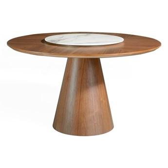 Okrągły stół z masywnego drewna jesionowego Ángel Cerdá Swivel