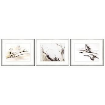 SERIA SHANGHAI - Rozświetlające obrazy na ścianę. Żurawie w locie.