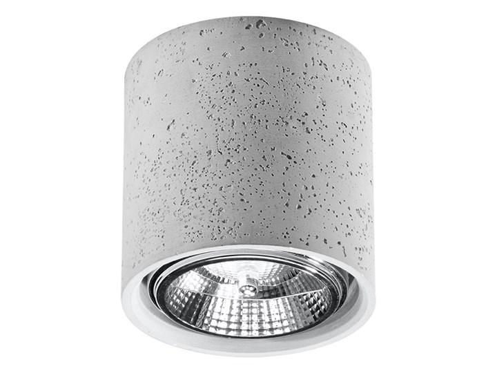 Okrągły loftowy plafon z betonu - EX578-Culli Okrągłe Kolor Szary Oprawa stropowa Kategoria Oprawy oświetleniowe