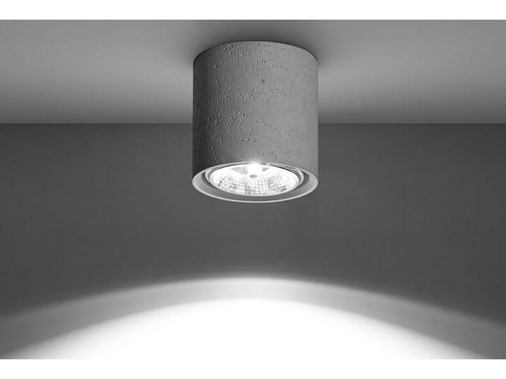 Okrągły loftowy plafon z betonu - EX578-Culli Oprawa stropowa Okrągłe Kategoria Oprawy oświetleniowe