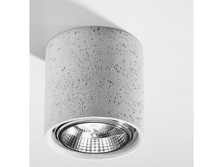Okrągły loftowy plafon z betonu - EX578-Culli Kategoria Oprawy oświetleniowe Okrągłe Oprawa stropowa Kolor Szary
