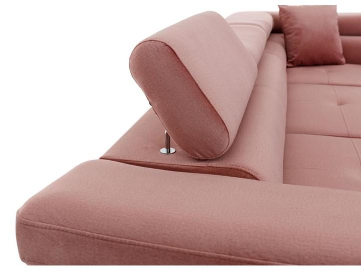 Meblobranie Rozkładany narożnik z funkcją spania Anton różowy 275x202x90 cm W kształcie L Szerokość 193 cm Wykonanie siedziska Sprężyny