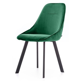 SELSEY Zestaw dwóch krzeseł tapicerowanych Jarel zielone pikowane