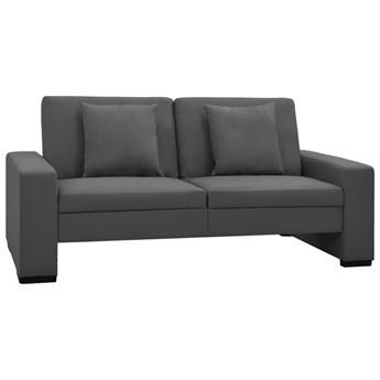 VidaXL Rozkładana sofa, szara, sztuczna skóra