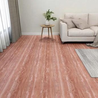 VidaXL Samoprzylepne panele podłogowe, 55 szt., PVC, 5,11 m², czerwone