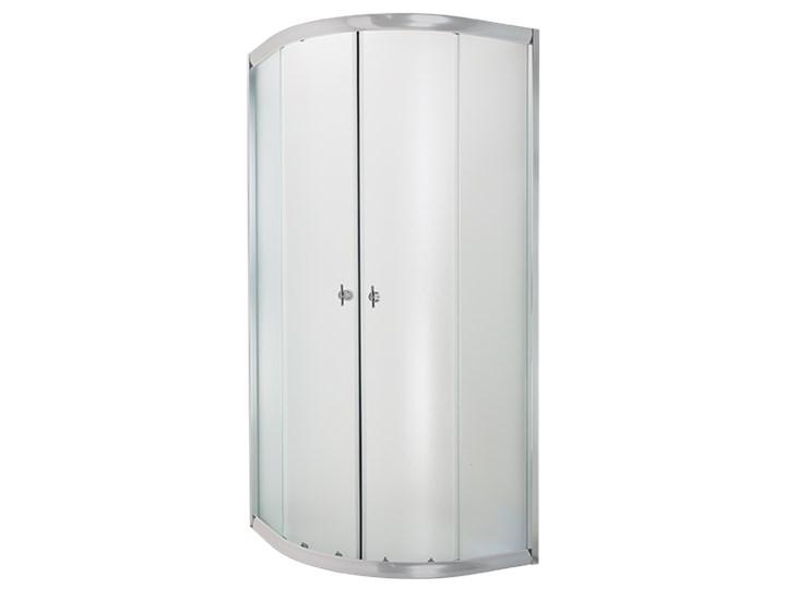 KABINA NATRYSK. PÓŁOKR.MARBELLA 80X80  PR.CHROM SZKŁO MROŻONE Kategoria Kabiny prysznicowe Wysokość 180 cm Przyścienna Narożna Półokrągła Rodzaj drzwi Rozsuwane