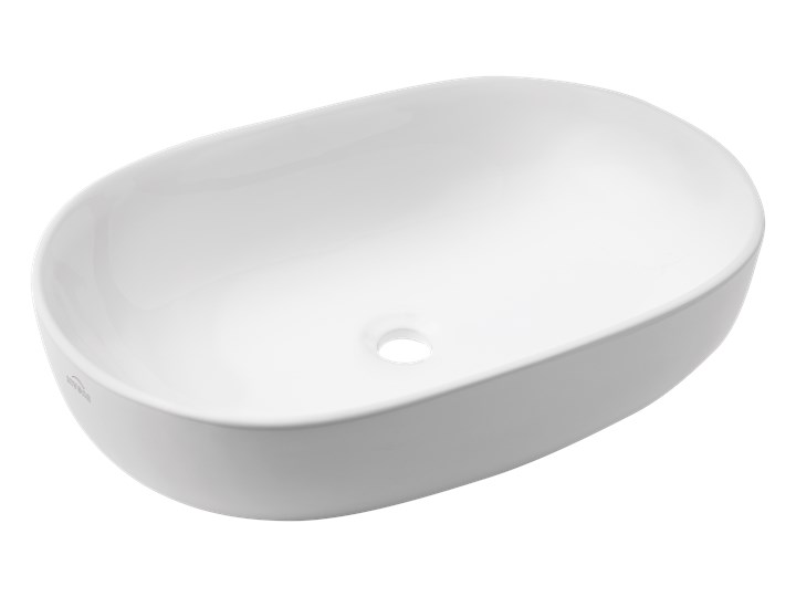 UMYWALKA NABLATOWA TEJA 60 CM, OWALNA Kategoria Umywalki Nablatowe Owalne Kolor Biały