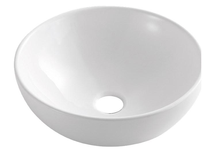 UMYWALKA NABLATOWA DOKOS, 40 CM, BIAŁY Nablatowe Okrągłe Kategoria Umywalki