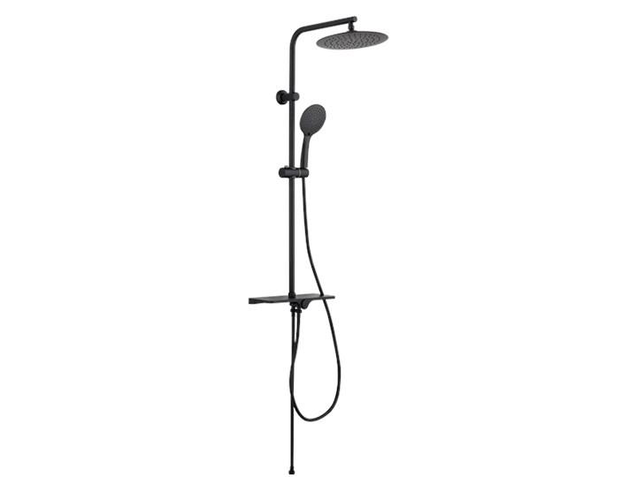 DESZCZOWNIA MUSTA BASIC INVENA TREND, CZARNA Kategoria Zestawy prysznicowe Wyposażenie Z wężem