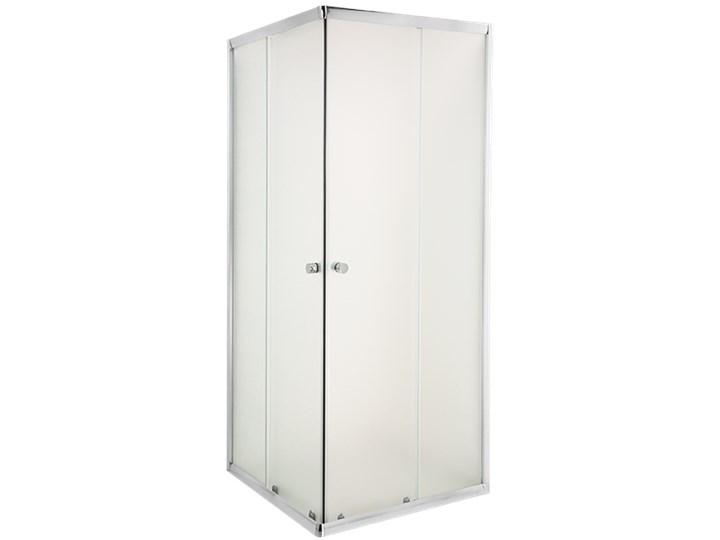 KABINA NATRYSK. KWADRAT.PARLA 80X80 PROF.CHROM SZKŁO MROŻONE Przyścienna Kategoria Kabiny prysznicowe Kwadratowa Wysokość 180 cm Rodzaj drzwi Rozsuwane