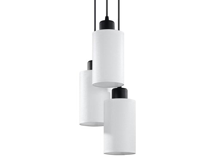 Lampa wisząca VESTA 3 biała lampa sufitowa LED E27 do salonu