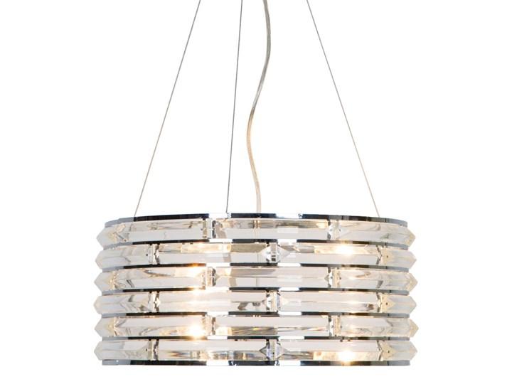 Krzyształowa lampa wisząca Coro Lampa z kloszem Stal Metal Kryształ Lampa z kryształkami Styl Glamour