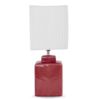 CUBE lampa stołowa 42 cm, różowo-fioletowa