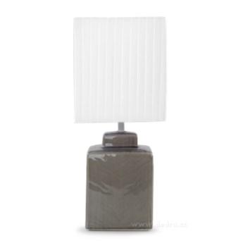 CUBE lampa stołowa 42 cm, szara