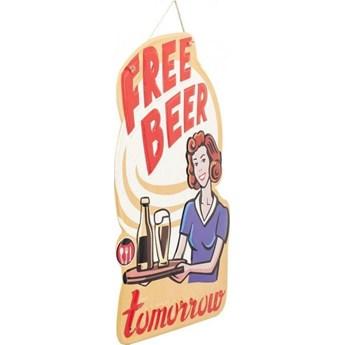 Dekoracja ścienna Free Beer 40x60 cm kolorowa