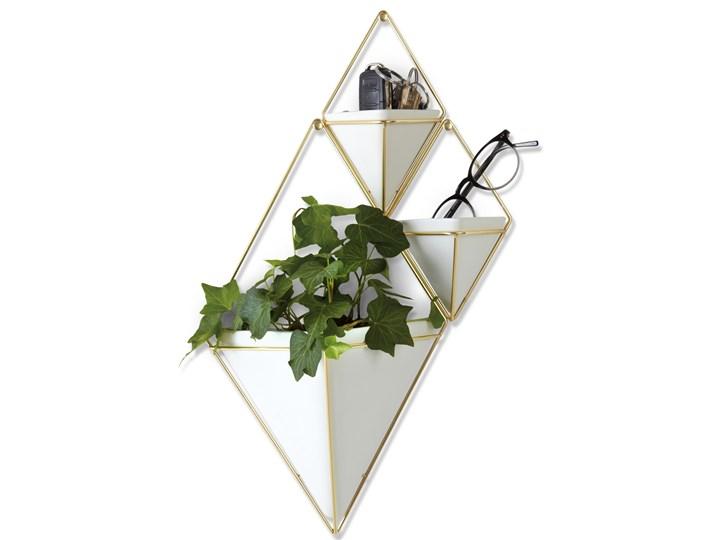 Organizer / pojemnik na kwiaty Trigg 11x18 cm złoty (2-set) Doniczka na kwiaty Ceramika Kategoria Doniczki i kwietniki