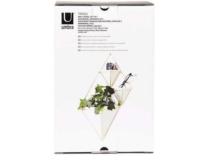 Organizer / pojemnik na kwiaty Trigg 11x18 cm złoty (2-set) Ceramika Doniczka na kwiaty Kategoria Doniczki i kwietniki