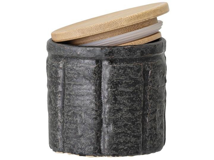 Pojemnik z pokrywką Cliff 150 ml czarny Ceramika Drewno Żaroodporny Kolor Szary
