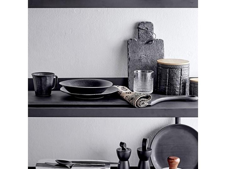 Pojemnik z pokrywką Cliff 150 ml czarny Drewno Żaroodporny Ceramika Typ Pojemniki