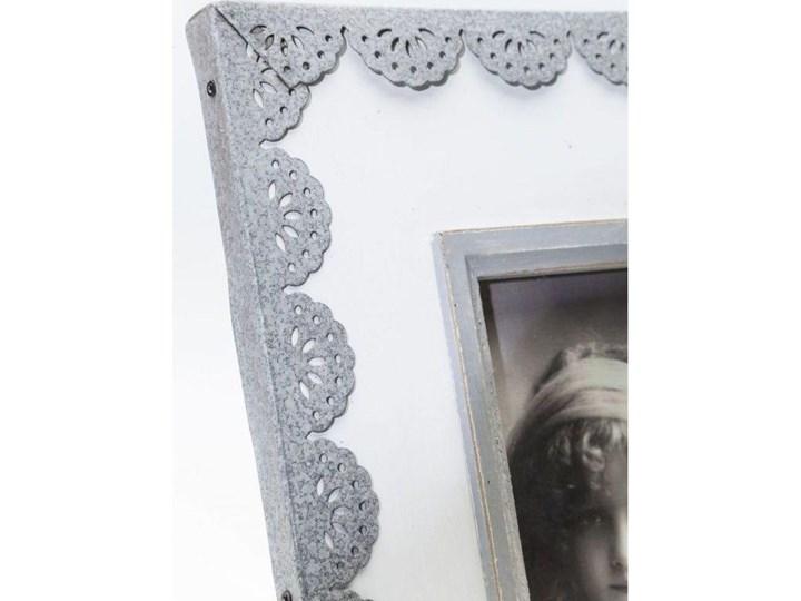 Ramka Vintage Lace 21x28 cm biało-szara Kolor Biały