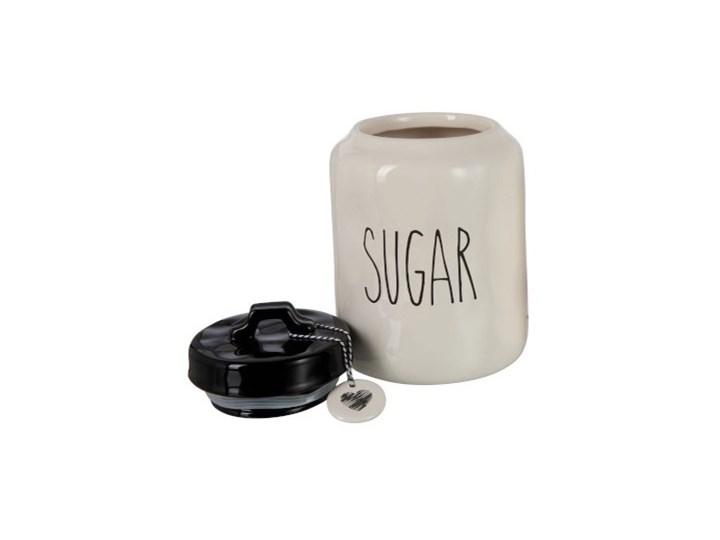 Słoik Sugar ∅15x23 cm biało-czarny Typ Słoiki Kolor Biały