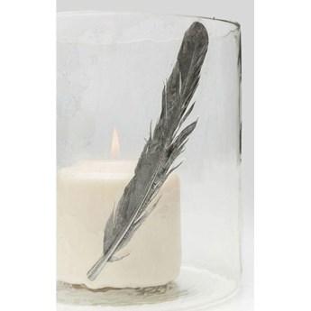 Świecznik Feather ∅13x20 cm transparentny