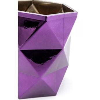 Świecznik na tealighty Rhomb 10x11 cm fioletowy