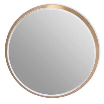 Okrągłe fazowane lustro w złotej ramie średnica 100 cm 12F-361