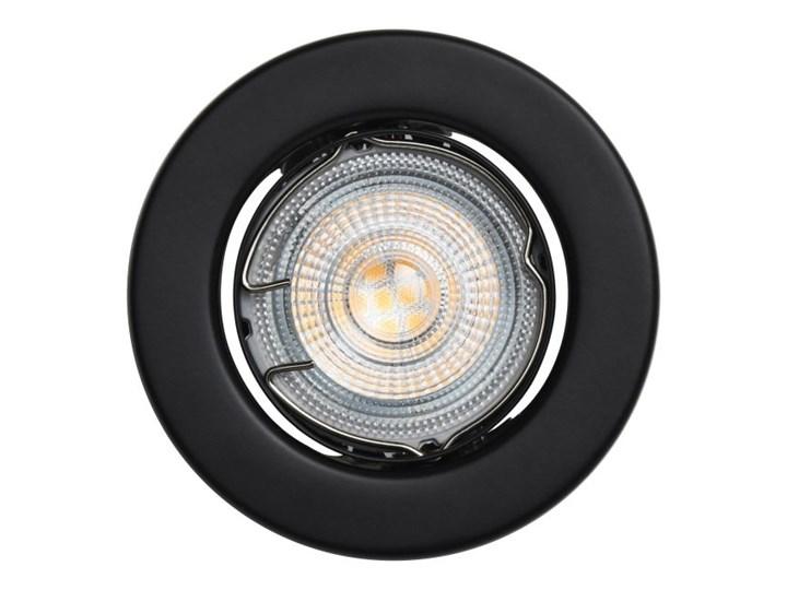 Oczko LED GoodHome Chancey GU10 345 lm 2700 K czarne 5 szt. Kolor Czarny Oprawa led Okrągłe Oprawa meblowa Kategoria Oprawy oświetleniowe