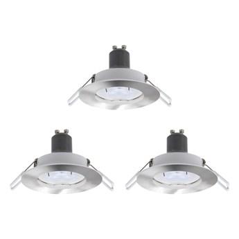 Oczko LED GU10 230 lm 2700 K 8,5 cm srebrne 3 szt.
