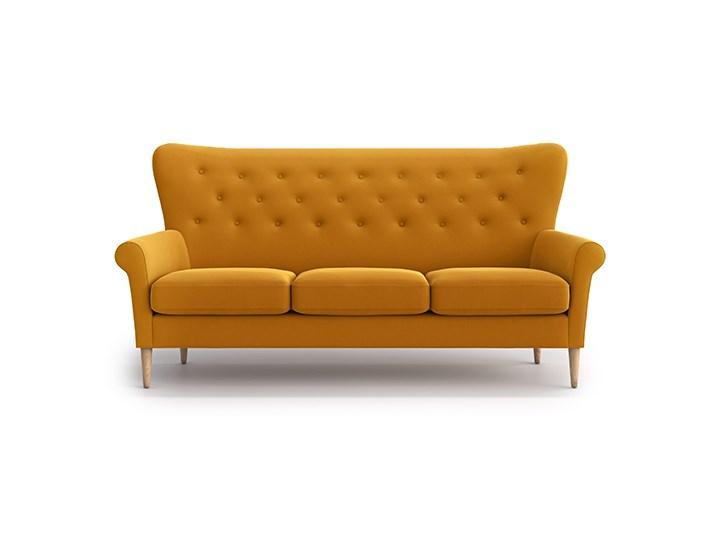 Sofa Amelie 3-osobowa, Golden Velvet Stała konstrukcja Funkcje Bez dodatkowych funkcji Nóżki Na nóżkach