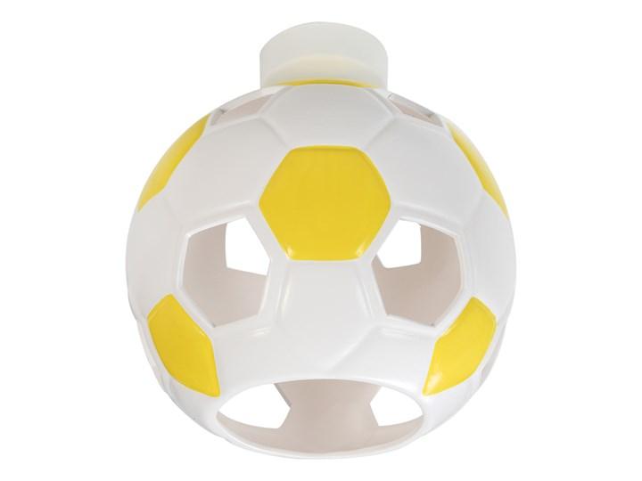 SOLLUX Nowoczesny Dziecięcy Plafon PIŁKA Biało Żółta Lampa Sufitowa do pokoju dziecięcego Atrakcyjna Oprawa Ceramiczna Żarówka E27 Oświetlenie LED