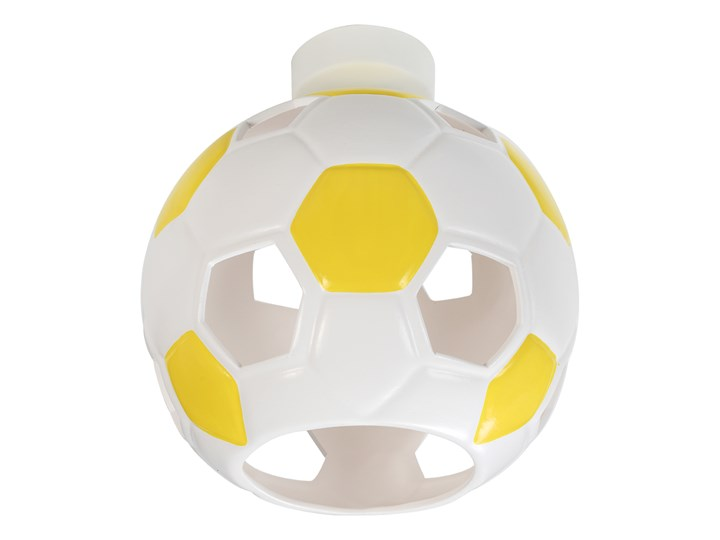 SOLLUX Nowoczesny Dziecięcy Plafon PIŁKA Biało Żółta Lampa Sufitowa do pokoju dziecięcego Atrakcyjna Oprawa Ceramiczna Żarówka E27 Oświetlenie LED Kolor Biały