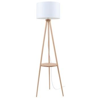 SOLLUX Nowoczesna Lampa Stojąca AUSTIN 1 Naturalne Drewno Biały Abażur Styl Loft Lampa Podłogowa E27 Oświetlenie LED