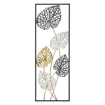 Metalowa dekoracja wisząca z wzorem liści Mauro Ferretti Ory -B-, 31x90 cm